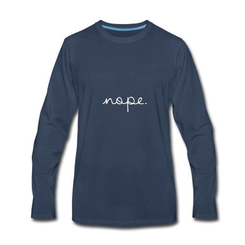 Nope Letterman Jacket - Men's Premium Long Sleeve T-Shirt