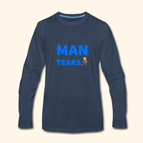 Man Tears Mug - Men's Premium Long Sleeve T-Shirt