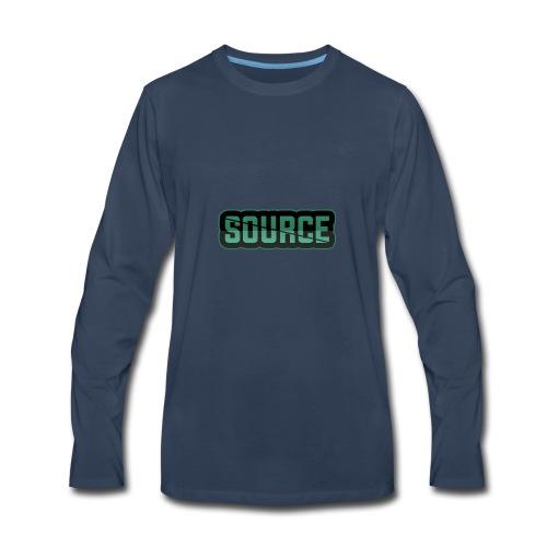 Green and Black Source Logo - Men's Premium Long Sleeve T-Shirt