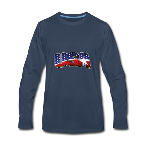USA - Men's Premium Long Sleeve T-Shirt