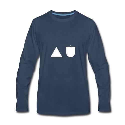 A U White - Men's Premium Long Sleeve T-Shirt