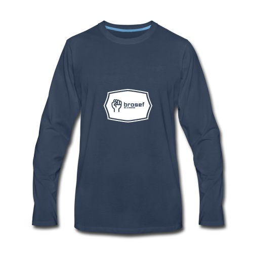 Brosef Logo - Men's Premium Long Sleeve T-Shirt