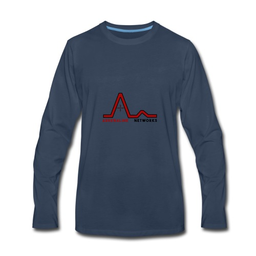 New Logo (With Name) - Men's Premium Long Sleeve T-Shirt