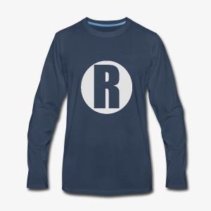 R white - Men's Premium Long Sleeve T-Shirt