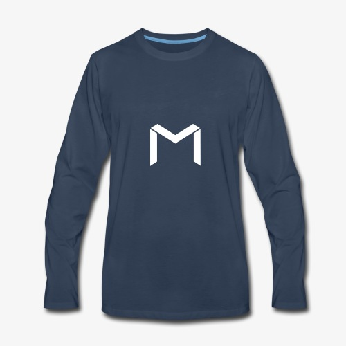 mavro logo white - Men's Premium Long Sleeve T-Shirt