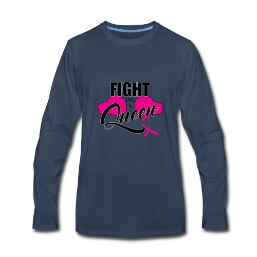 Pink Ribbon - Men's Premium Long Sleeve T-Shirt