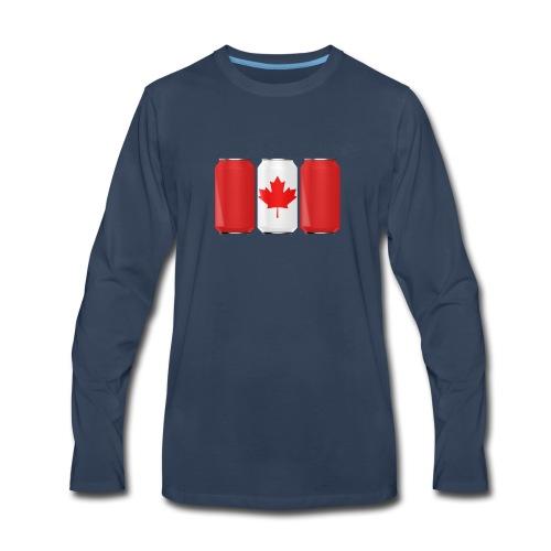 Beer Can Canada Flag - Men's Premium Long Sleeve T-Shirt