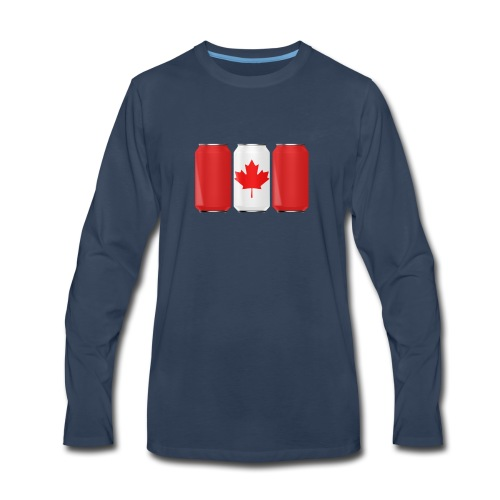 Beer Can Canada Flag - Men's Premium Long Sleeve T-Shirt