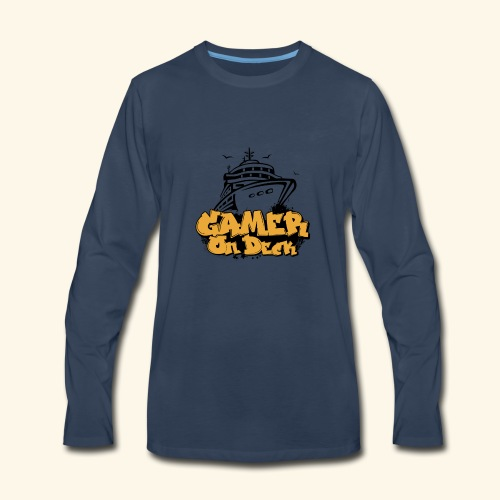 Gamer On Deck Graphic - Version 1-2 - Men's Premium Long Sleeve T-Shirt