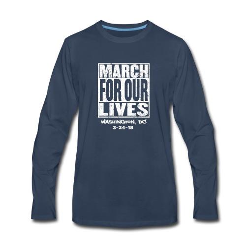 March For Our Lives Washington, DC - Men's Premium Long Sleeve T-Shirt