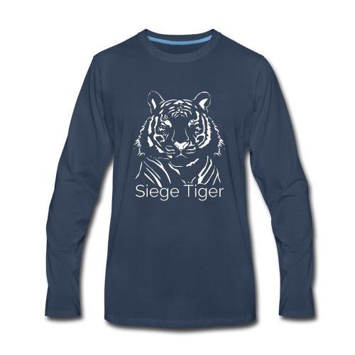 Siege Tiger White - Men's Premium Long Sleeve T-Shirt