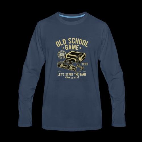 Old School Gamer - Men's Premium Long Sleeve T-Shirt