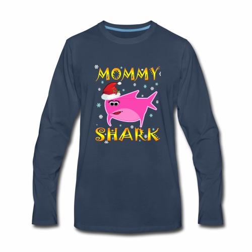 Mommy Shark Christmas Design Gift Idea - Men's Premium Long Sleeve T-Shirt