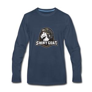 SHINY GOAT TV EMBLEM - Men's Premium Long Sleeve T-Shirt