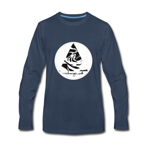Flowering Youth Black and White - Men's Premium Long Sleeve T-Shirt
