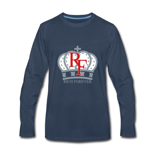 Rich forever Crown 3 5 - Men's Premium Long Sleeve T-Shirt