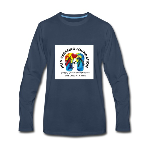 JHEN CABANAG FOUNDATION INTERNATIONAL Logo - Men's Premium Long Sleeve T-Shirt