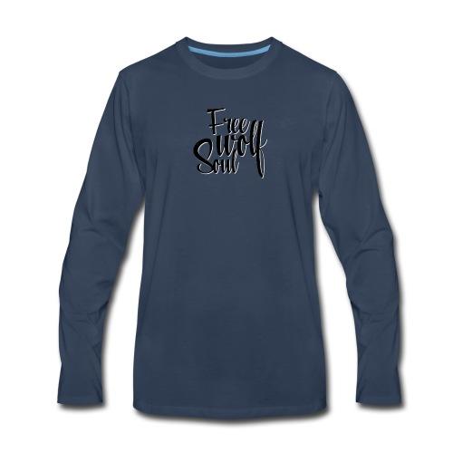 Logotype - Free Wolf Soul - Men's Premium Long Sleeve T-Shirt