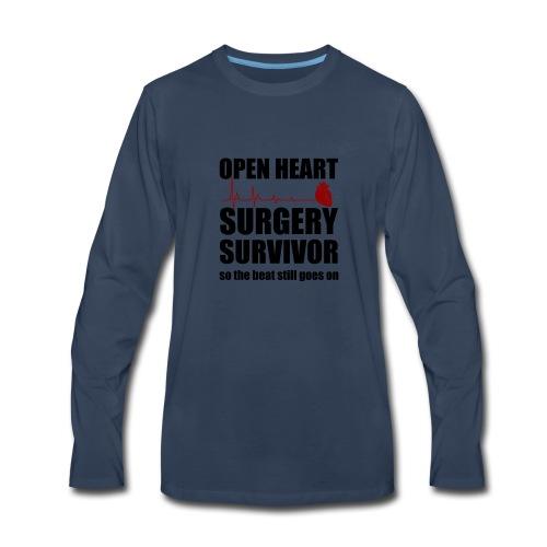 openheart surgery - Men's Premium Long Sleeve T-Shirt