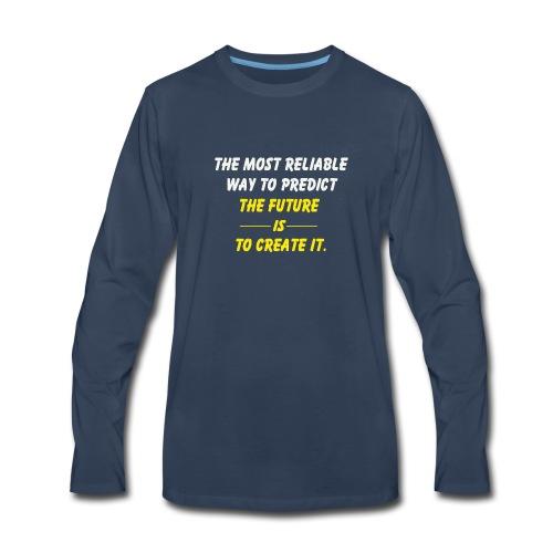create the future - Men's Premium Long Sleeve T-Shirt