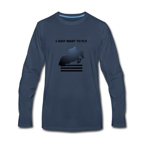 WANT TO FLY - Men's Premium Long Sleeve T-Shirt