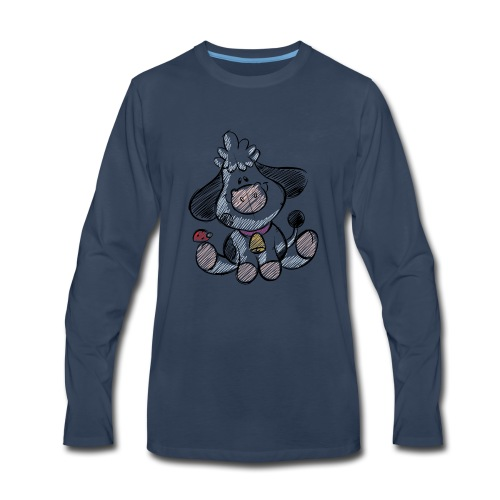 cow funny love animals and pets - Men's Premium Long Sleeve T-Shirt