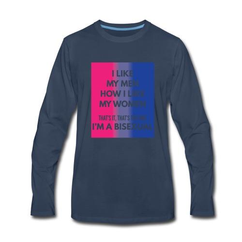 Bisexual - Bi - LGBT - Gay Pride - Gift - Men's Premium Long Sleeve T-Shirt