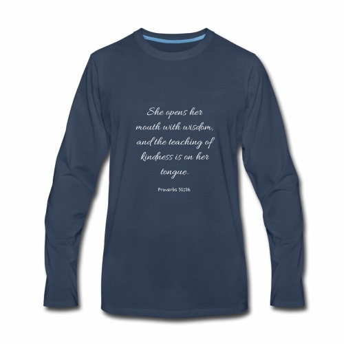 Mom Proverbs 31:26 - Men's Premium Long Sleeve T-Shirt