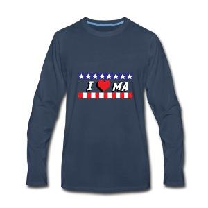 I love Maine, MA - Men's Premium Long Sleeve T-Shirt