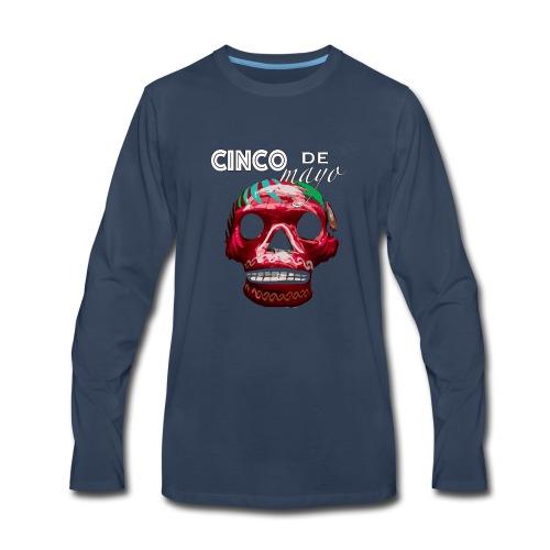Cinco de Mayo Skull - Men's Premium Long Sleeve T-Shirt