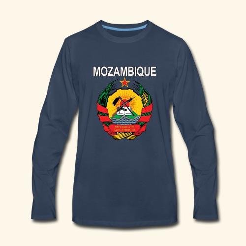 Mozambique coat of arms national design - Men's Premium Long Sleeve T-Shirt