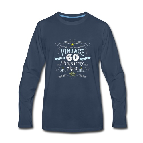 Funny Vintage 60th Birthday Gift - Men's Premium Long Sleeve T-Shirt