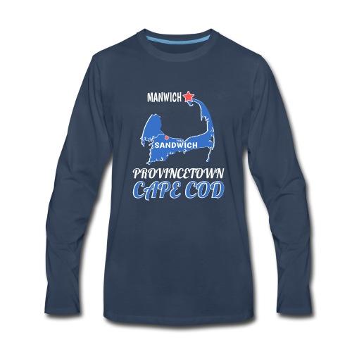 Provincetown Cape Cod Sandwich-MANWICH Map - Men's Premium Long Sleeve T-Shirt