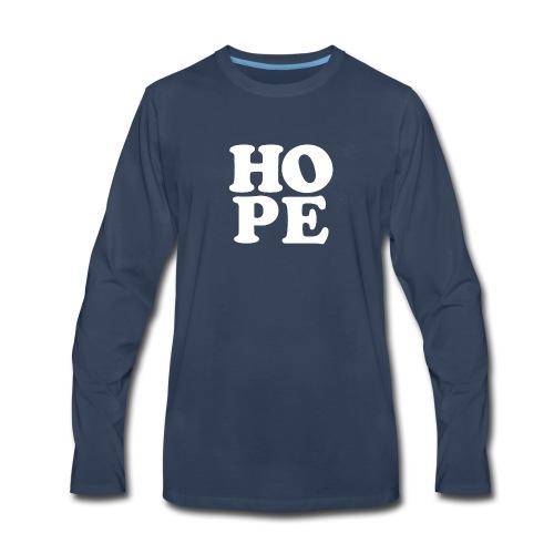 Hope Inspirational Vintage Style Shirt - Men's Premium Long Sleeve T-Shirt