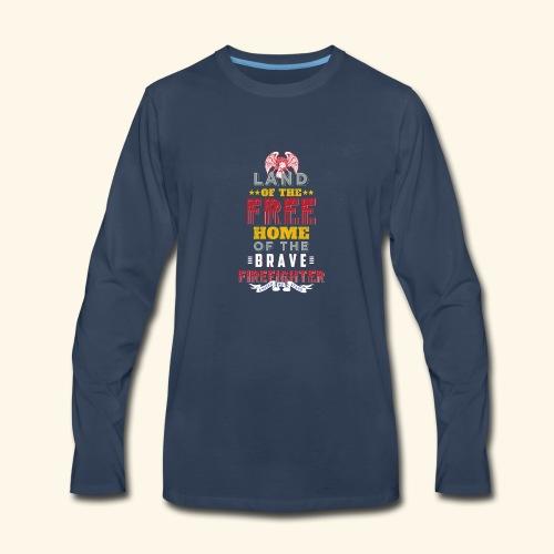 Patriotic Firefighter / American Firefighter - Men's Premium Long Sleeve T-Shirt