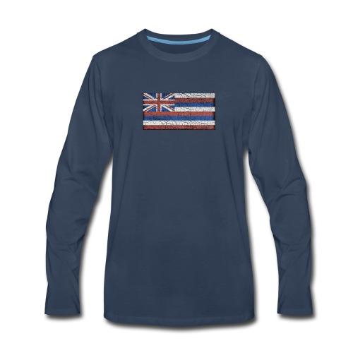 Hawaii Grunge Flag - Men's Premium Long Sleeve T-Shirt