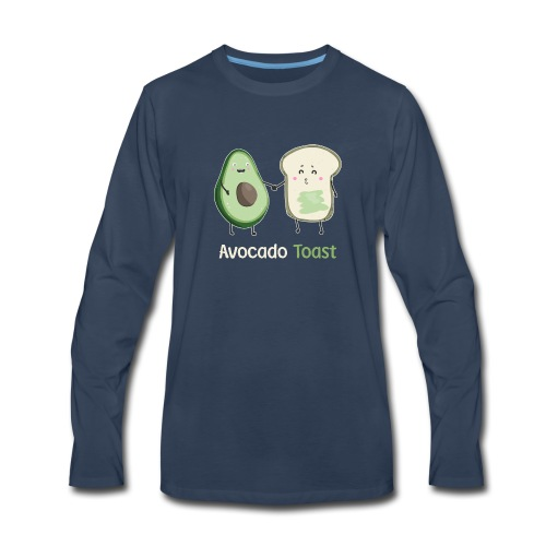 2Avocado Toast T-Shirt - Men's Premium Long Sleeve T-Shirt