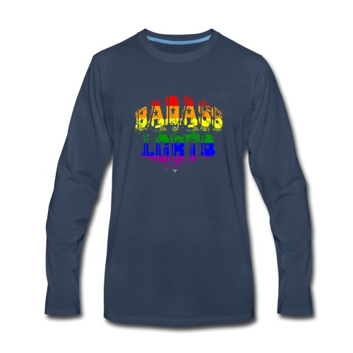 Badass LGBTQ Gay Pride Parade Support Human Rights - Men's Premium Long Sleeve T-Shirt