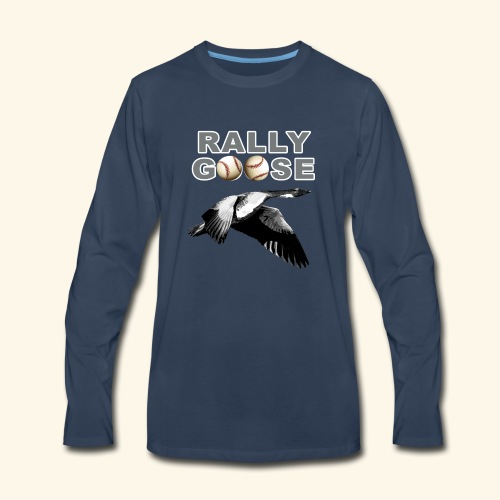 Detroit Rally Goose Baseball Lucky Charm Design - Men's Premium Long Sleeve T-Shirt