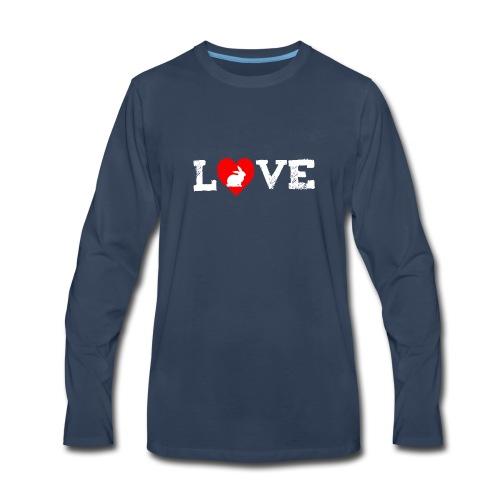 I Love my Rabbit I Heart my Bunny Easter - Men's Premium Long Sleeve T-Shirt