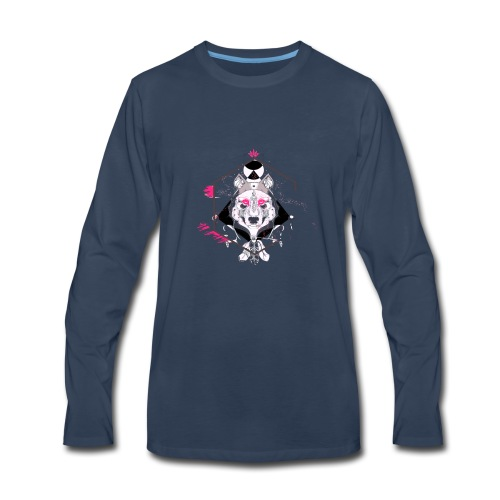 Wolf face - Men's Premium Long Sleeve T-Shirt