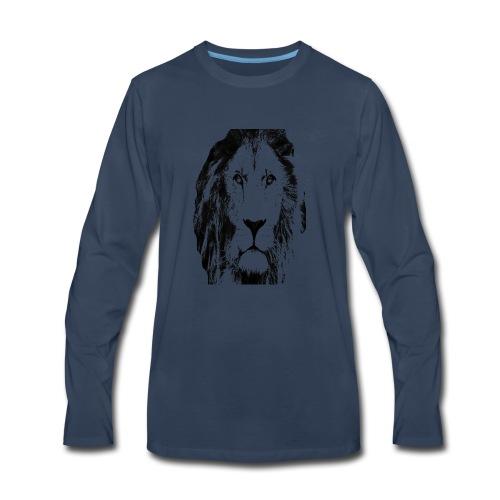 Lion FACE - Men's Premium Long Sleeve T-Shirt