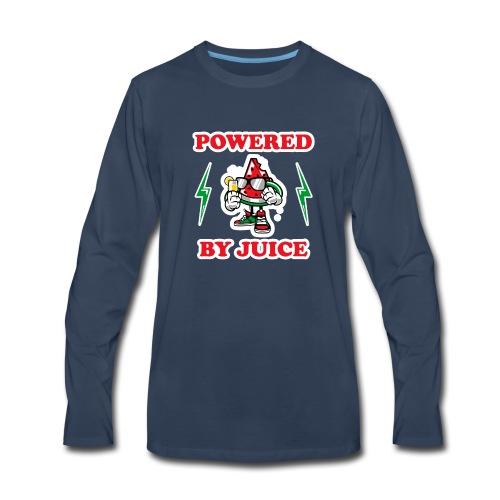 Powered by Juice Vegan design - Men's Premium Long Sleeve T-Shirt