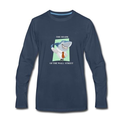wall street shark - Men's Premium Long Sleeve T-Shirt