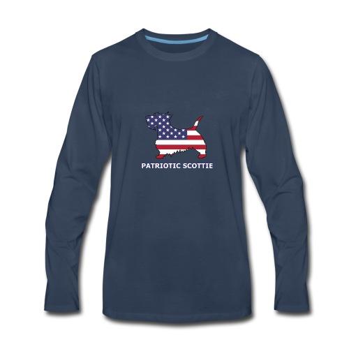 American Scottie - Men's Premium Long Sleeve T-Shirt