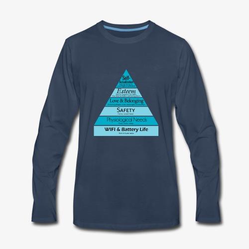 Maslow's Hierarchy - Men's Premium Long Sleeve T-Shirt