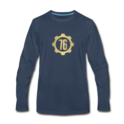 Vault 76 Dweller Shirt Design - Men's Premium Long Sleeve T-Shirt