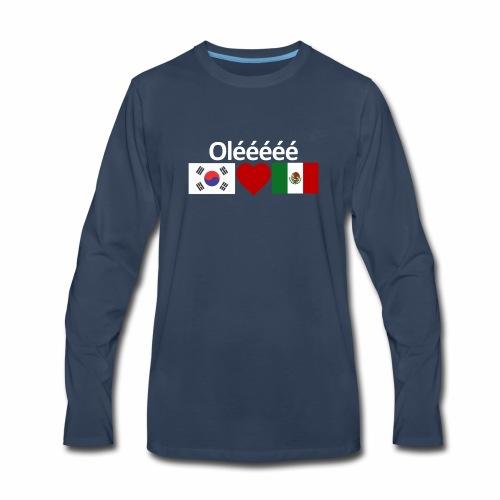 Mexico Soccer Jersey Shirt Mexico and Korea flag - Men's Premium Long Sleeve T-Shirt