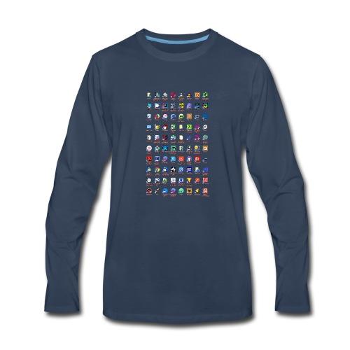 Windows Icons - Men's Premium Long Sleeve T-Shirt