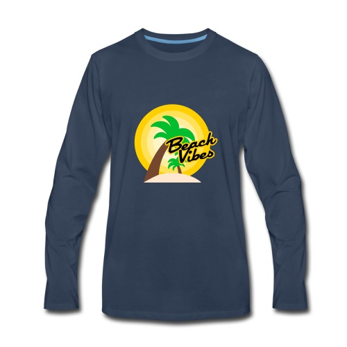 Beach vibes t-shirt summer - Men's Premium Long Sleeve T-Shirt